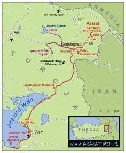 Trasa wyprawy Ararat Maxi